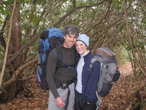 Bliss & Tom backpacking