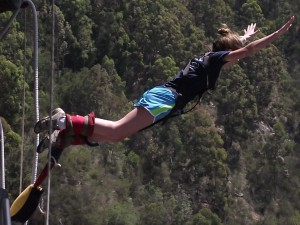 Bliss bungie jumping off 800 foot platform