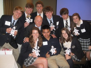 Students with Dan Cathy, CEO, Chick-fil-A